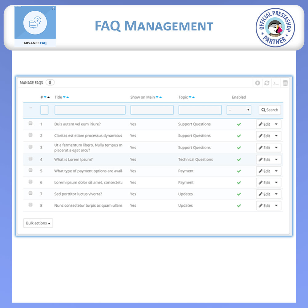 module - FAQ (Frequently Asked Questions) - Frequently Asked Questions - FAQ Advance - 12