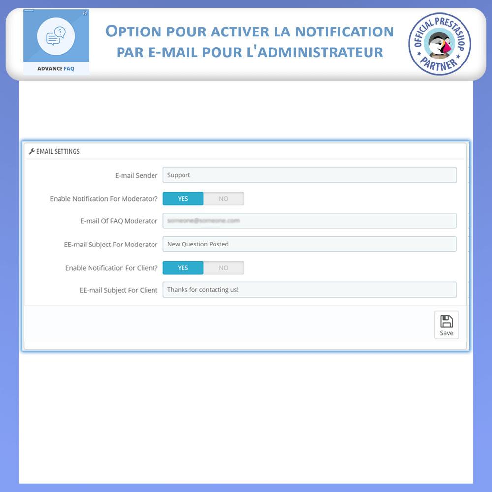 module - FAQ (questions fréquentes) - FAQ Avancée - 12