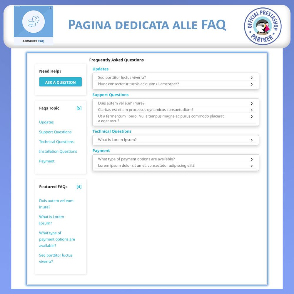 module - FAQ (Domande Frequenti) - Avanzate FAQ – Crea una Pagina Dedicata per FAQ - 3