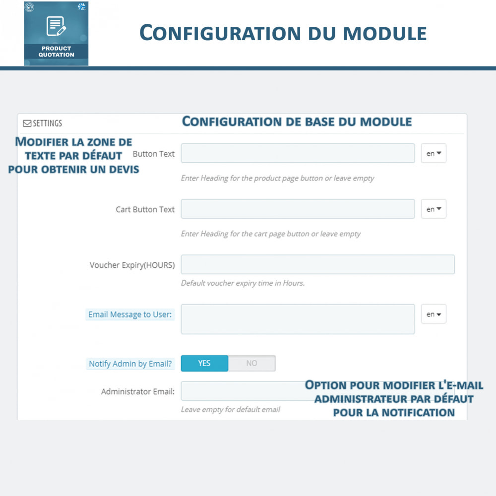 module - Devis - Devis Produit, Autoriser le client à demander un devis - 14