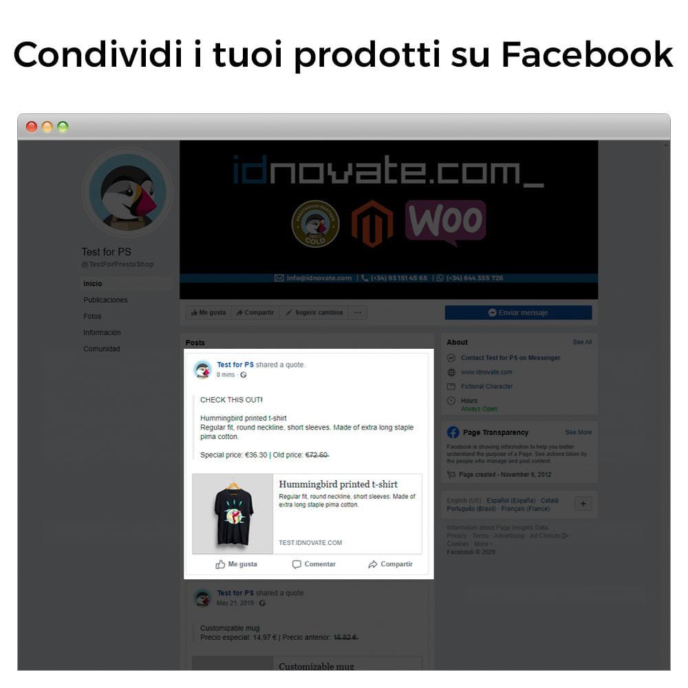module - Prodotti sui Facebook & Social Network - Condividi sui Social Network dal Backoffice - 2