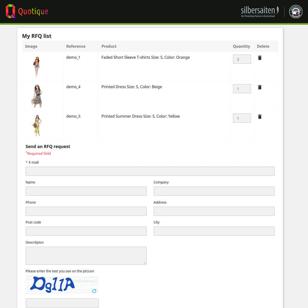 module - Расчет цены - Quotique - Request for Quotation (Quote) - 20