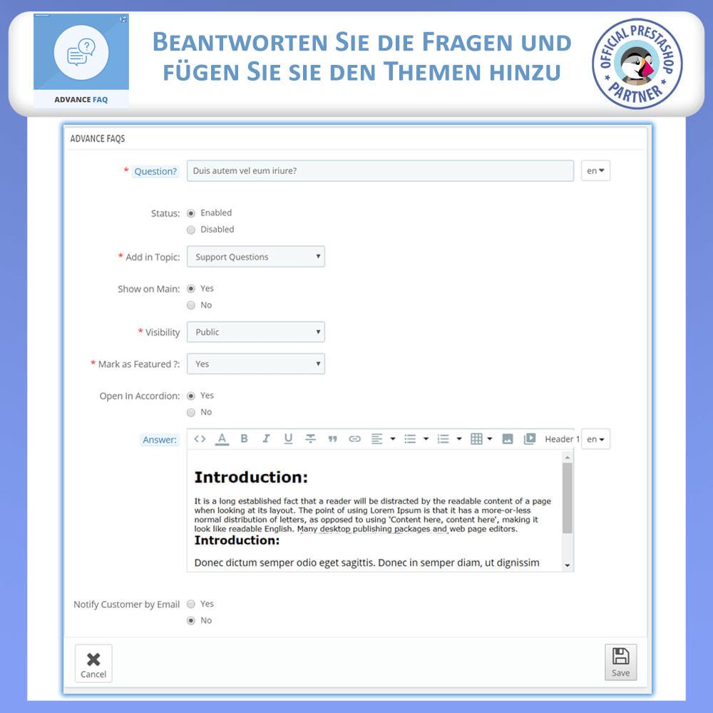 module - FAQ (Häufig gestellte Fragen) - Erweiterte FAQ - 13