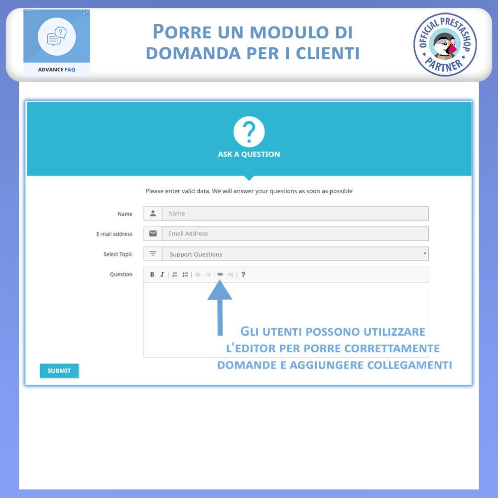 module - FAQ (Domande Frequenti) - Avanzate FAQ – Crea una Pagina Dedicata per FAQ - 8