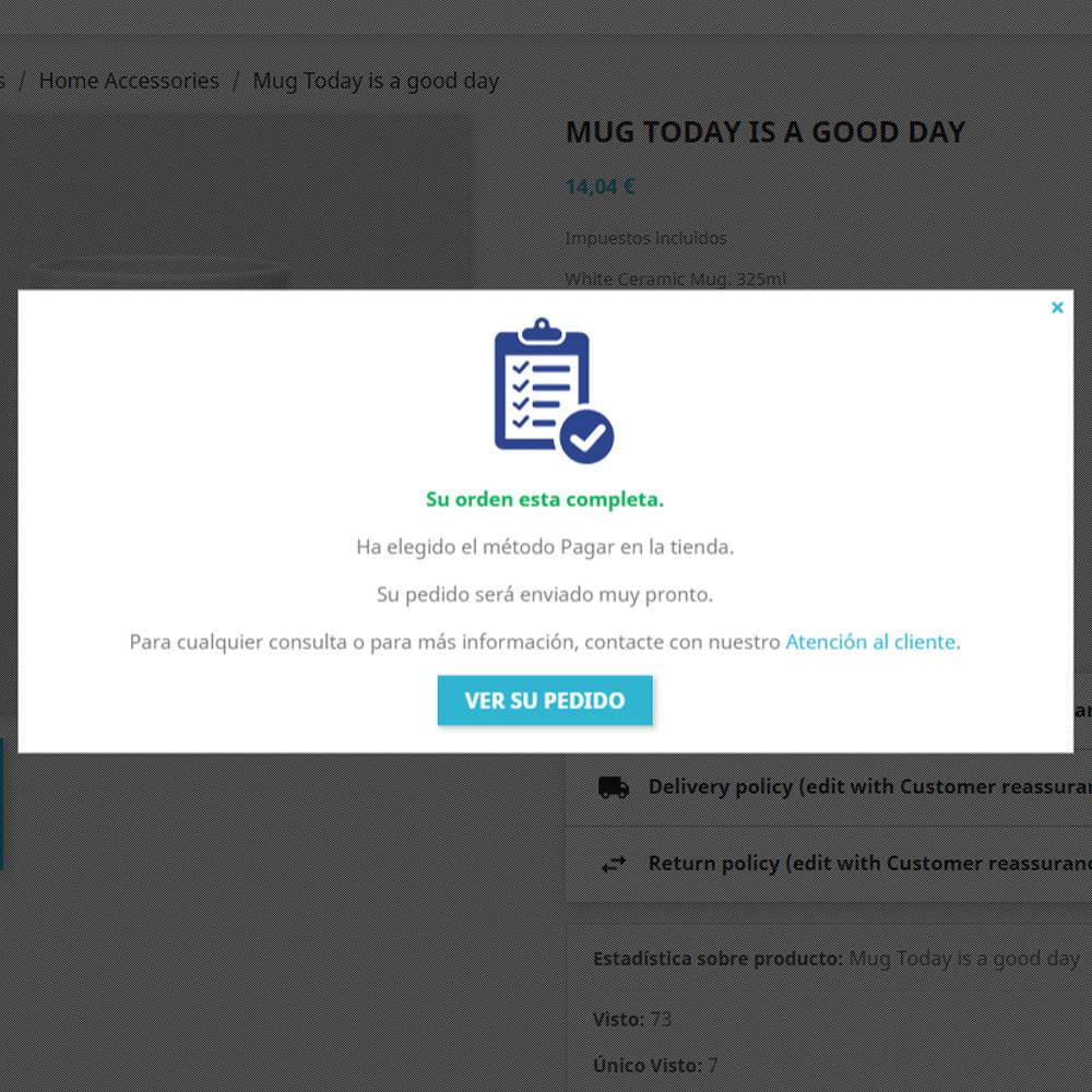 module - Proceso rápido de compra - Un clic en la salida del producto - 5