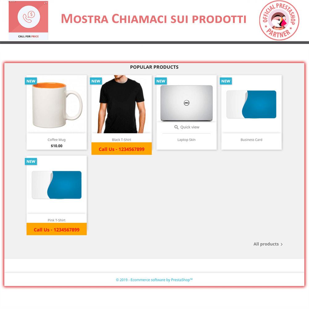 module - Gestione Prezzi - Chiama per il Prezzo - Nascondi il Prezzo - 2