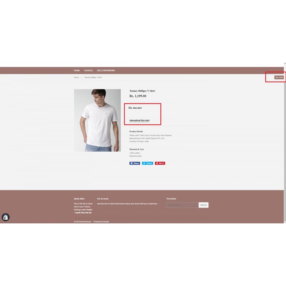 module - Altre informazioni & Product Tab - Ultimate Size Chart - 5