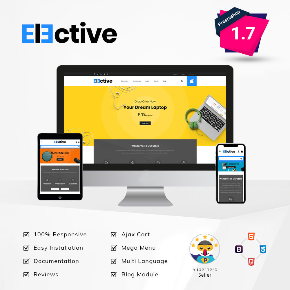 theme - Elektronik & High Tech - The Elective - Electronic Store - 1