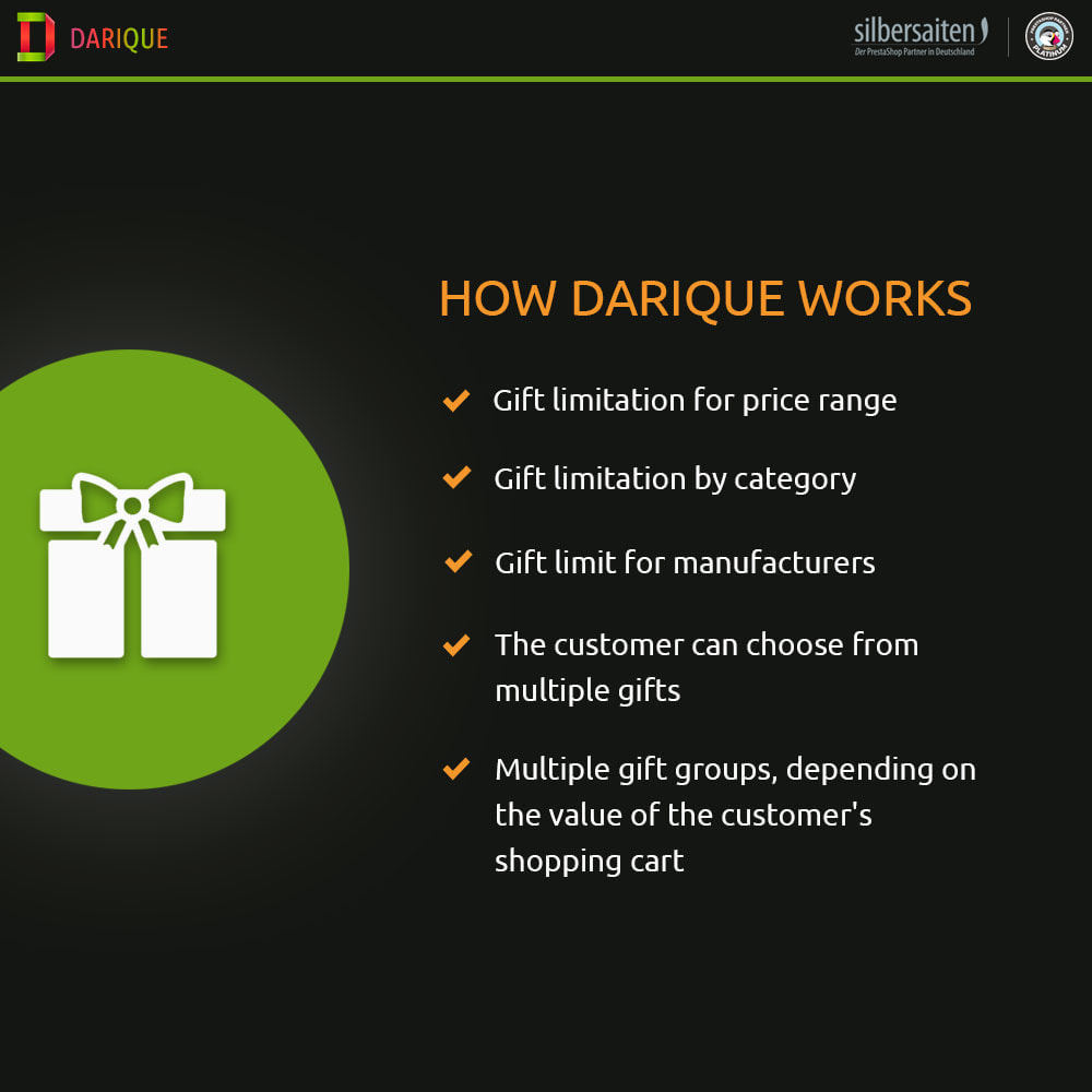 module - Акции и Подарки - Darique - Gift Products on Order Displayed in your Cart - 1