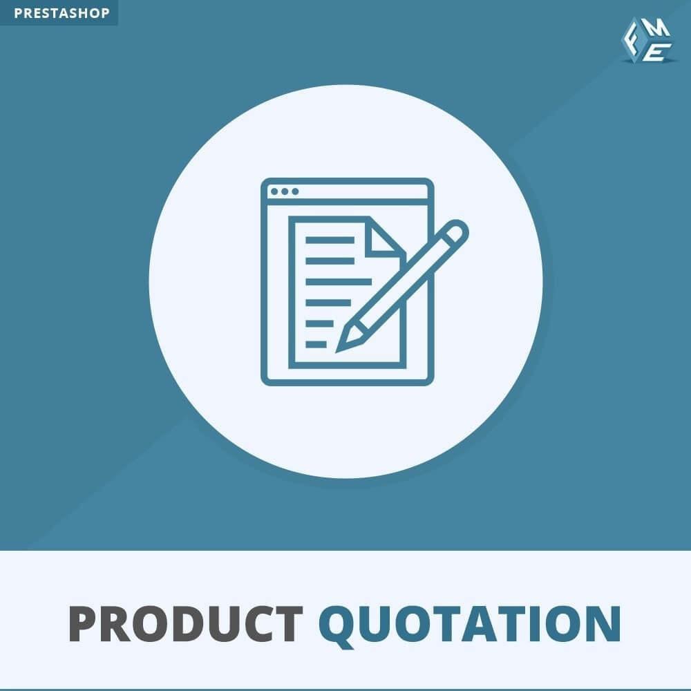 module - Presupuestos - Cotización de Producto - Permitir al Cliente Cotizar - 1