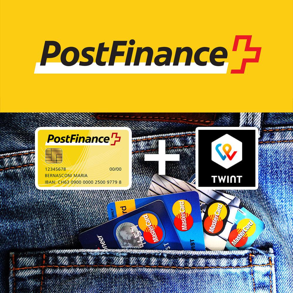 module - Pagamento por cartão ou por carteira - PostFinance & Twint - 1