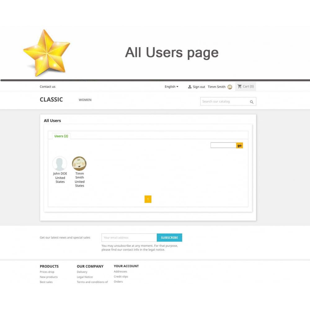 module - Widgets réseaux sociaux - Produit Avis + Programmes fidélité + Profil utilisateur - 11