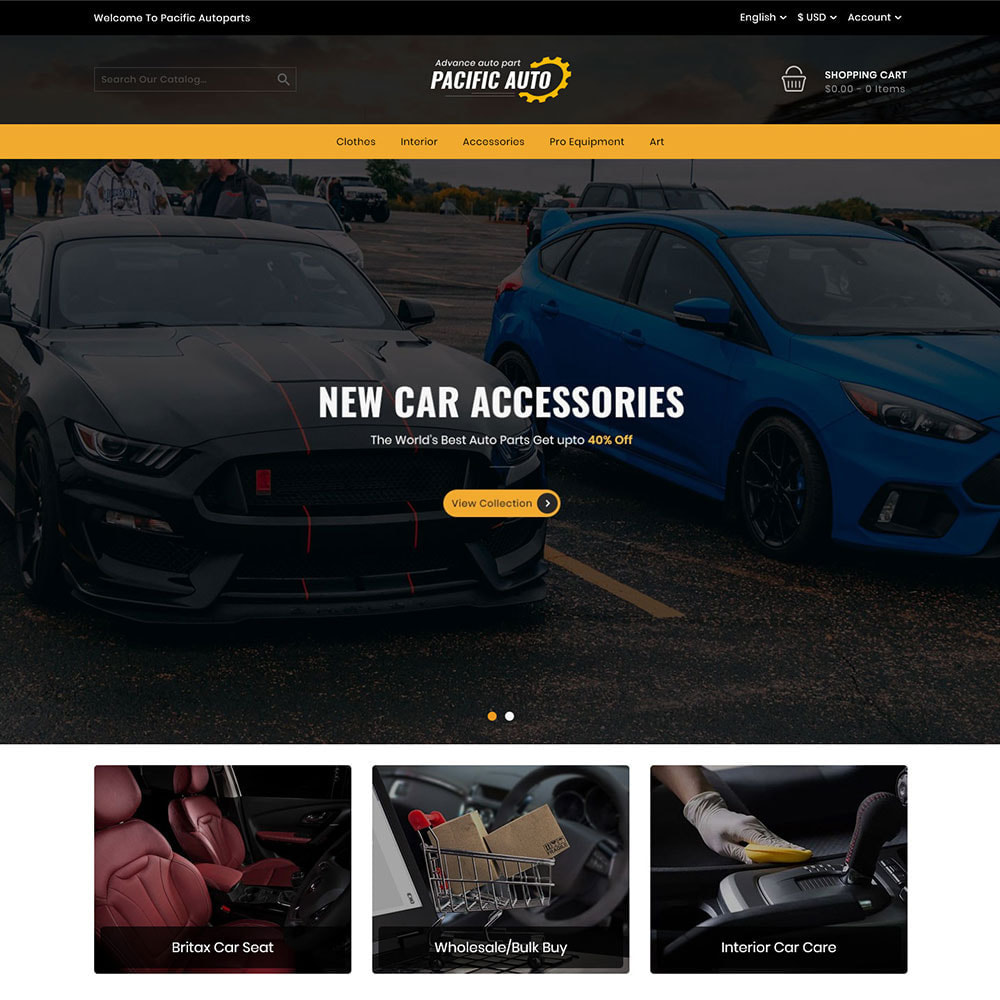 theme - Automotive & Cars - Pacific Auto Store - 2