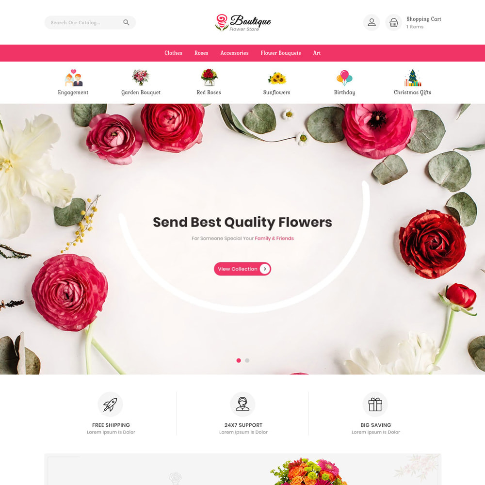 theme - Gifts, Flowers & Celebrations - Boutique flower store - 2
