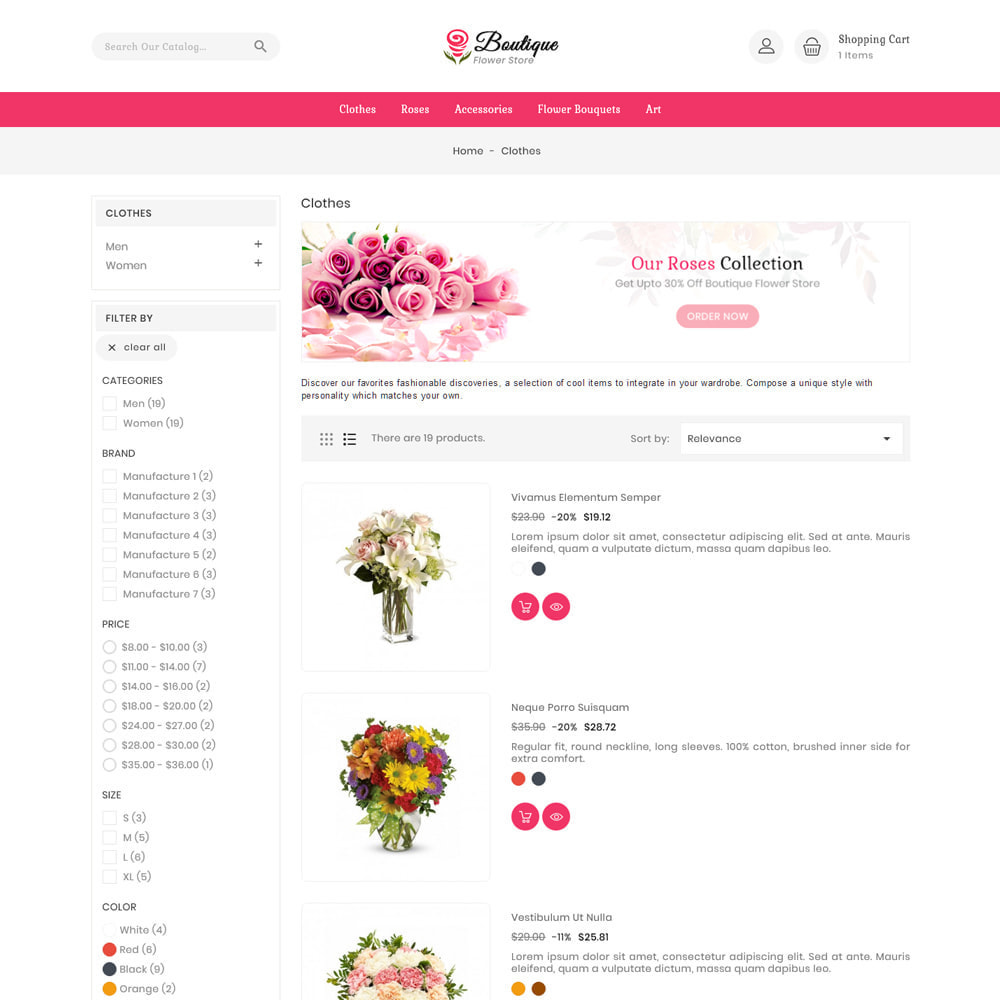 theme - Gifts, Flowers & Celebrations - Boutique flower store - 4