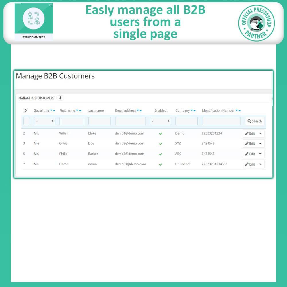 module - B2B - B2B E Commerce - 8