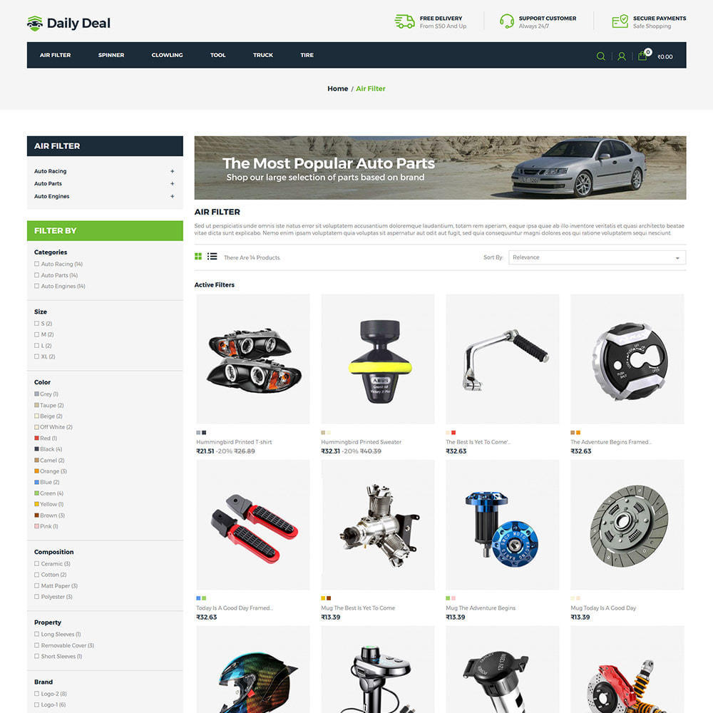 theme - Automotive & Cars - Daily Deal - Tool Auto Car  Store - 3