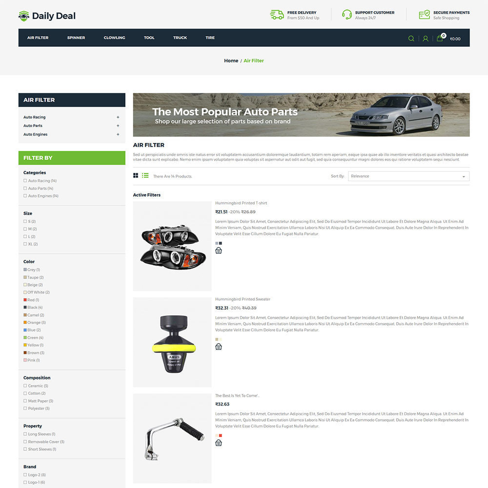 theme - Automotive & Cars - Daily Deal - Tool Auto Car  Store - 4