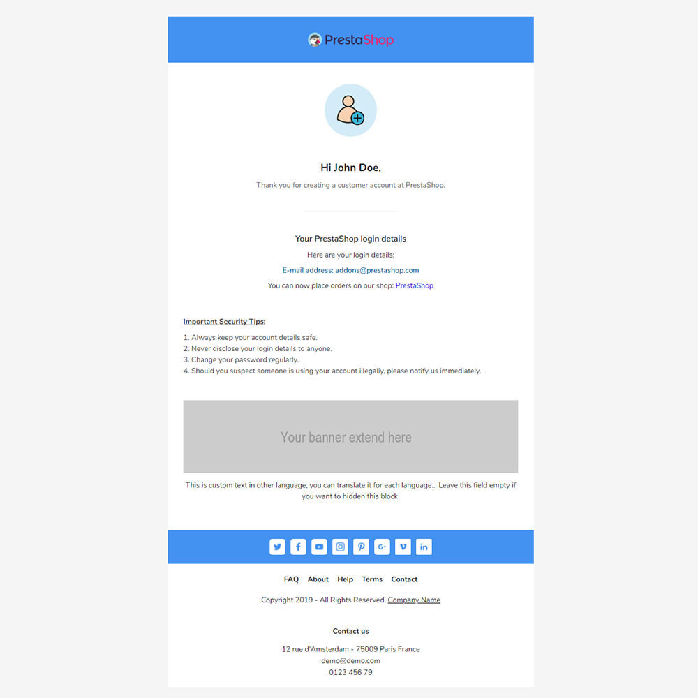 email - Email templates PrestaShop - Ncov - Template emails and for emails of module - 3