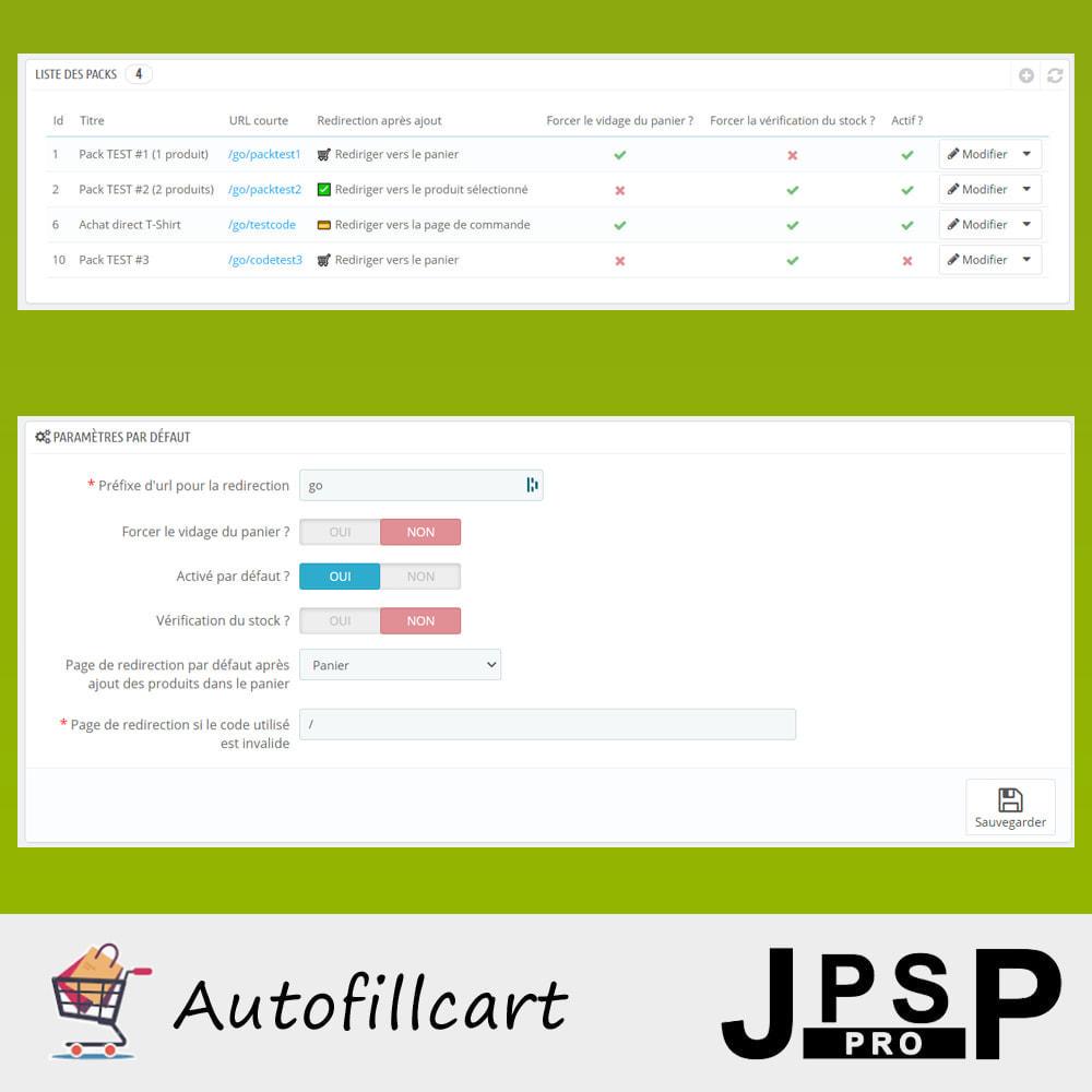 module - Inscription & Processus de commande - Remplissage automatique du panier - 2