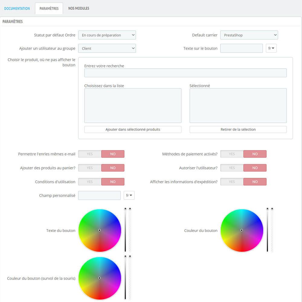 module - Processus rapide de commande - Un clic sur la sortie du produit - 8
