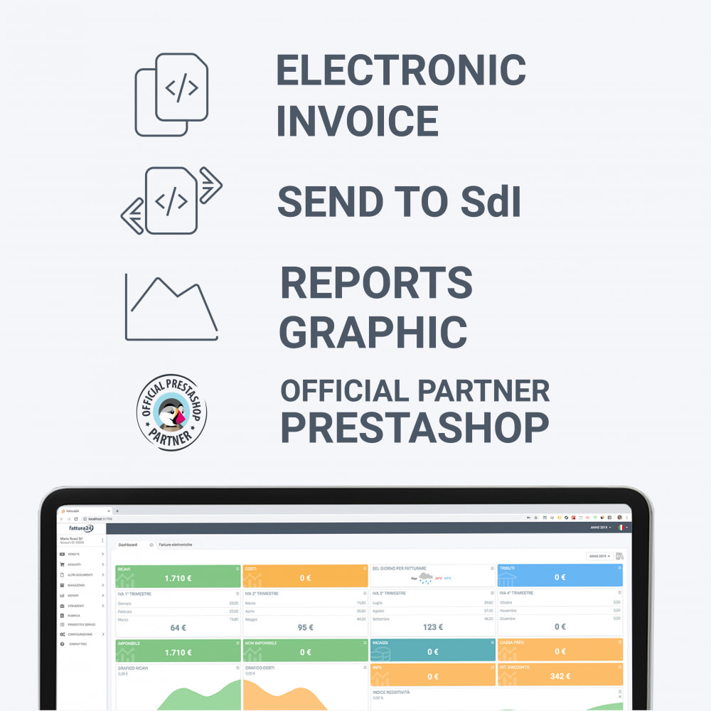 module - Бухгалтерии и выставления счетов - Fattura24 - Custom Invoice Generator - 1