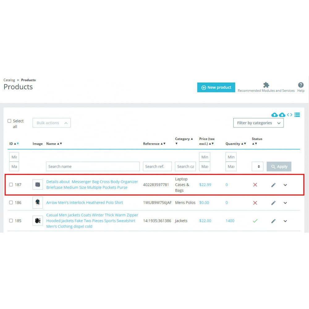 module - Importação & exportação de dados - Advanced Ebay Product Importer - 6