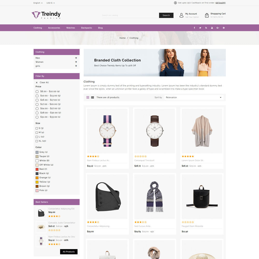 theme - Fashion & Shoes - Treindy - Fashion Store - 3