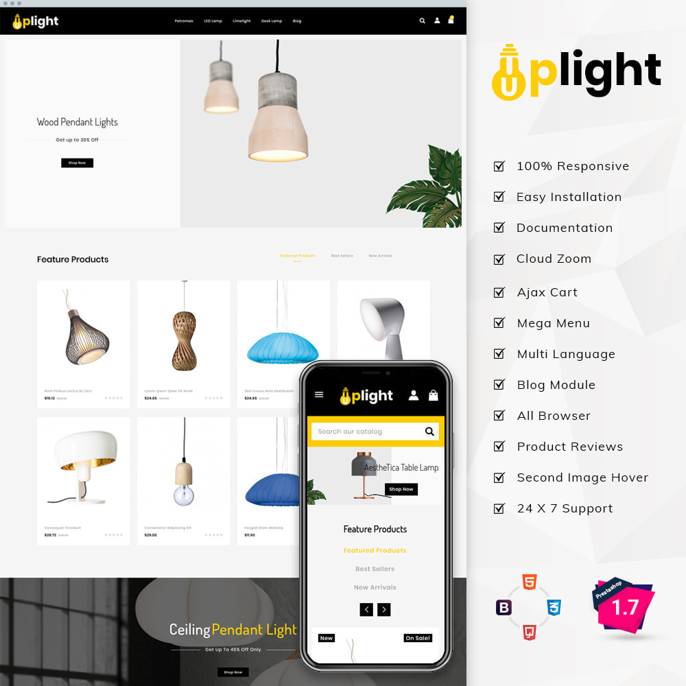 theme - Home & Garden - Uplight - Light Shop - 1