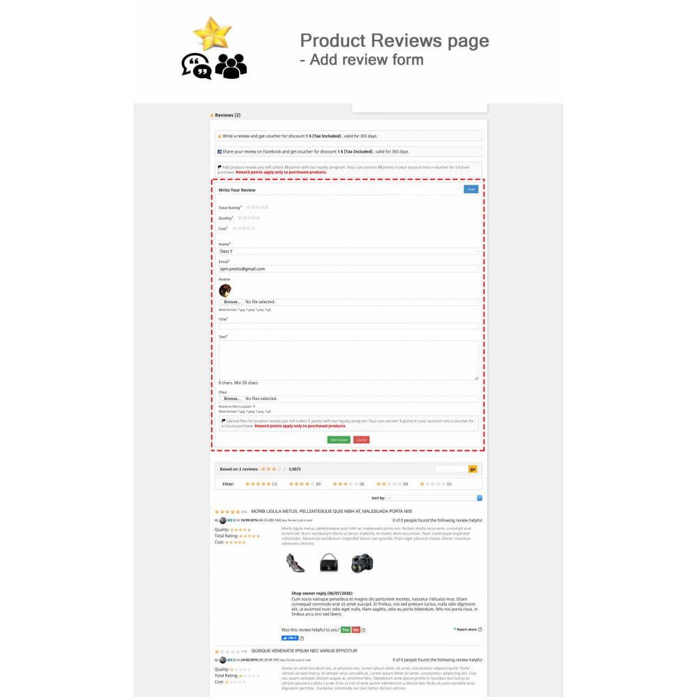 module - Kundenbewertungen - Product Reviews+Shop Reviews, Loyalty Program, Reminder - 2