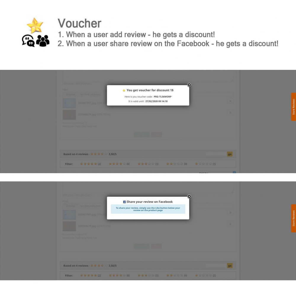 module - Kundenbewertungen - Product Reviews+Shop Reviews, Loyalty Program, Reminder - 8