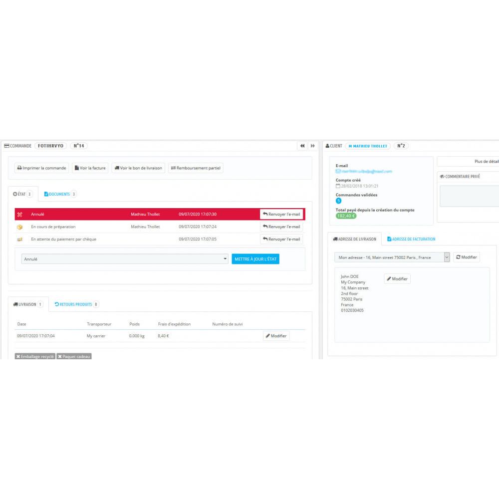 module - Contabilidad y Facturas - Deslizamiento automático pedidos pedidos cancelados - 3