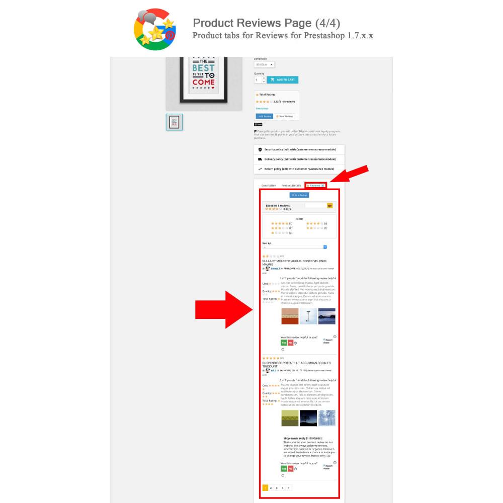 module - Avis clients - Produit+Boutique Avis, Points fidélité, Google Snippets - 5