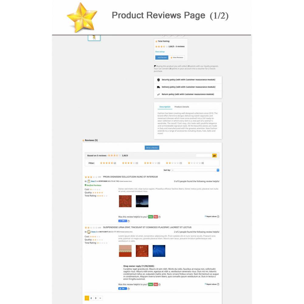 module - Widgets réseaux sociaux - Produit Avis + Programmes fidélité + Profil utilisateur - 1