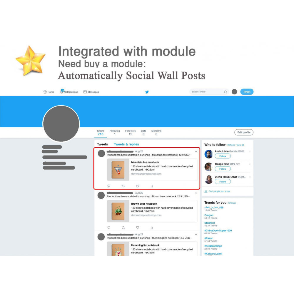 module - Social Widget - Product Reviews PRO + Loyalty Program + User Profile - 5