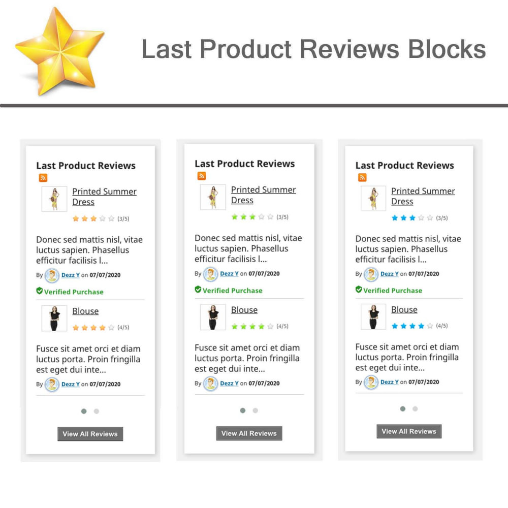 module - Social Widget - Product Reviews PRO + Loyalty Program + User Profile - 7
