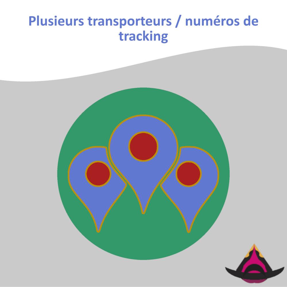 module - Suivi de livraison - Plusieurs transporteurs / numéros de tracking - 1