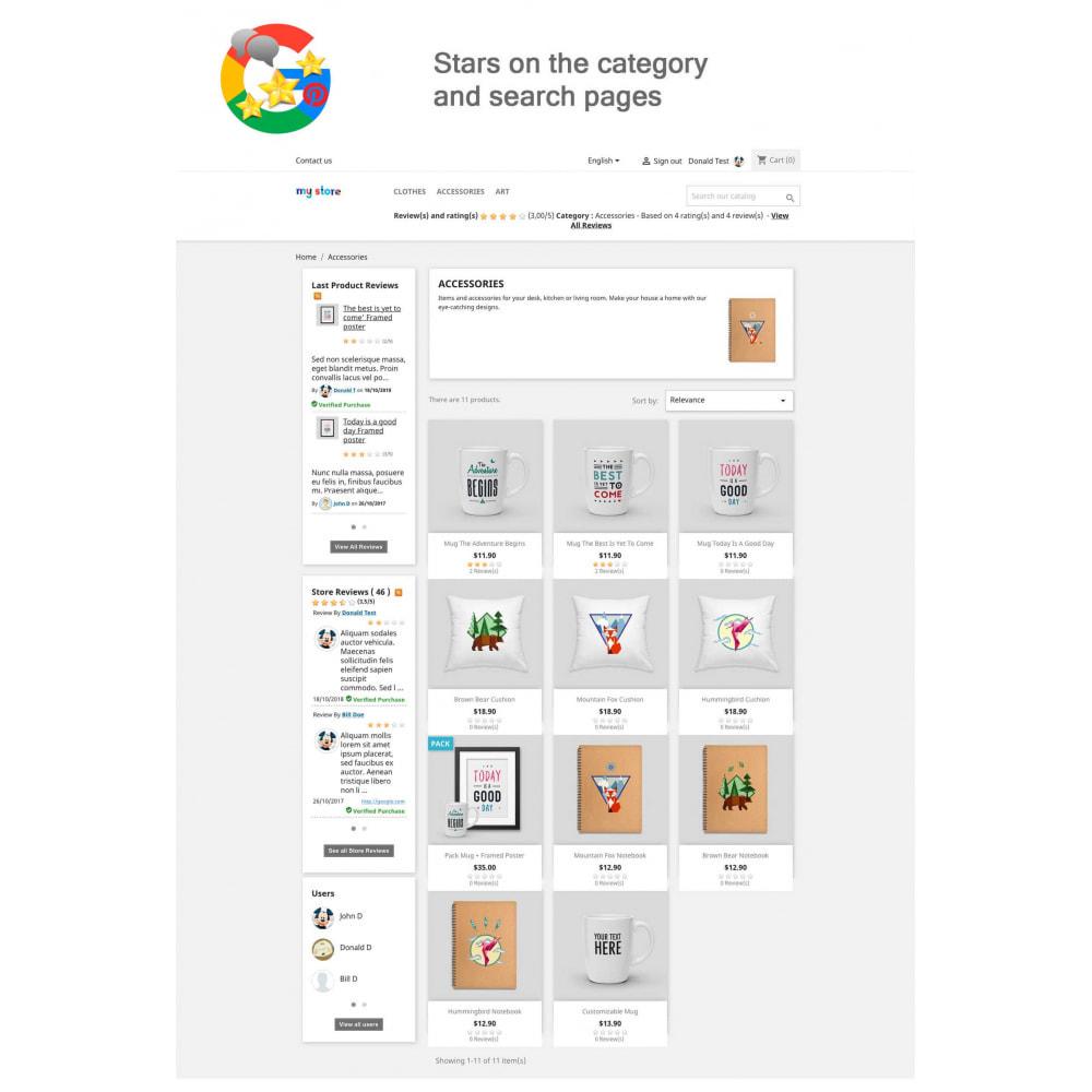 module - Avis clients - Produit+Boutique Avis, Points fidélité, Google Snippets - 10