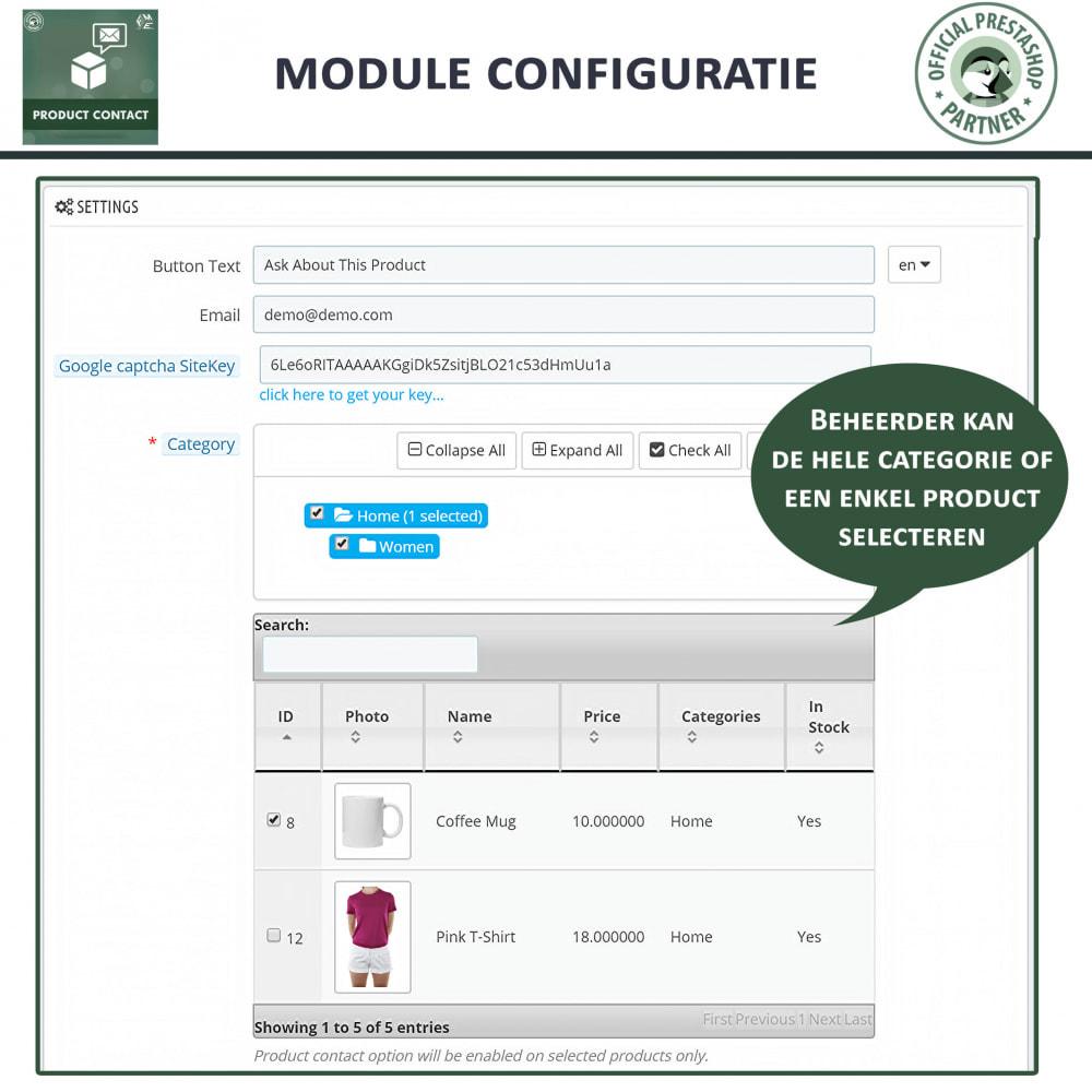 module - Contactformulier & Enquêtes - Product Contact - onderzoek Formulier - 6