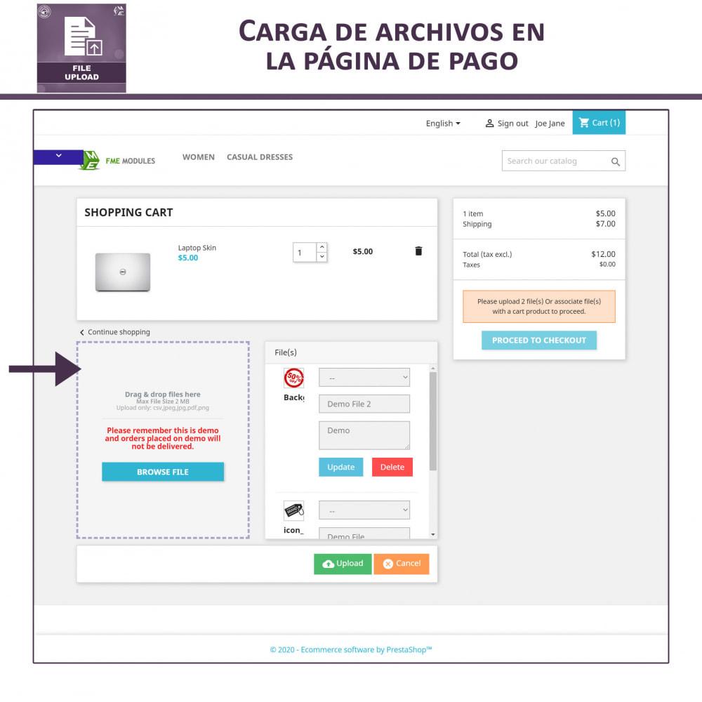 module - Informaciones adicionales y Pestañas - Carga de Archivos por Cliente - 5