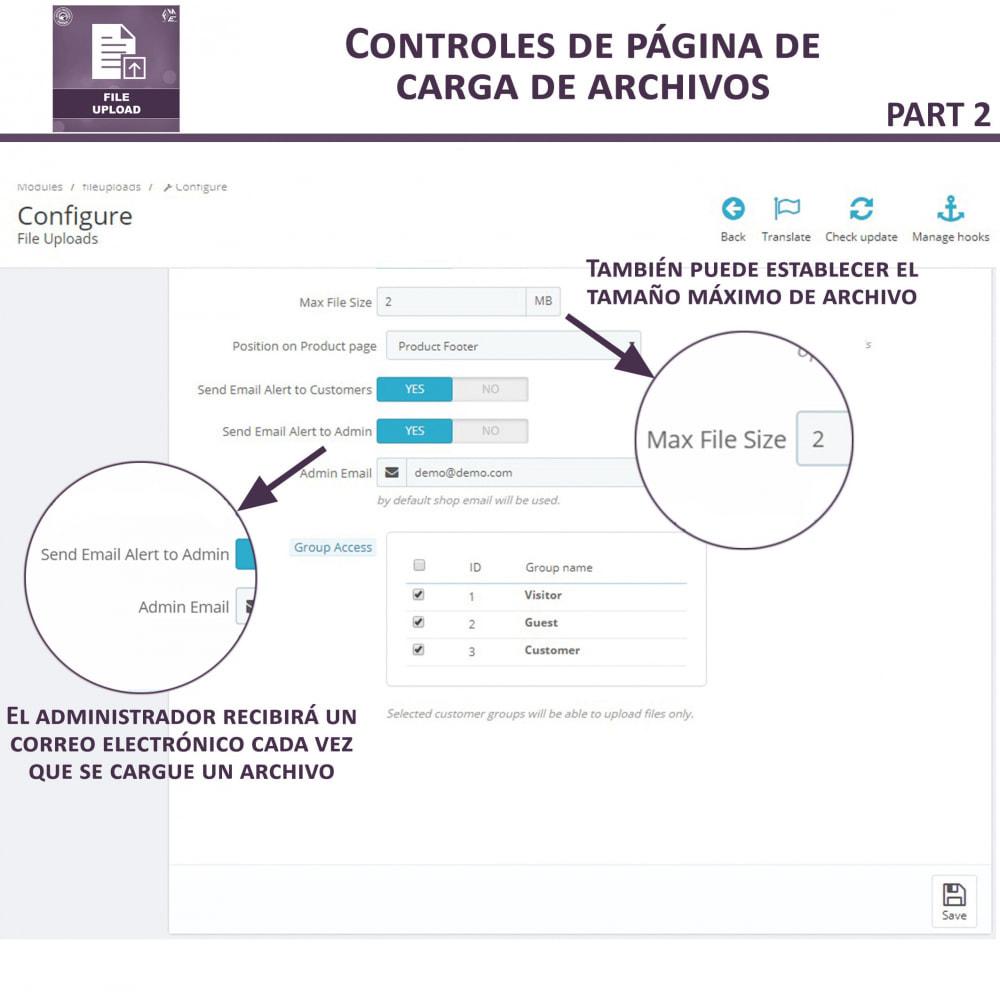 module - Informaciones adicionales y Pestañas - Carga de Archivos por Cliente - 9