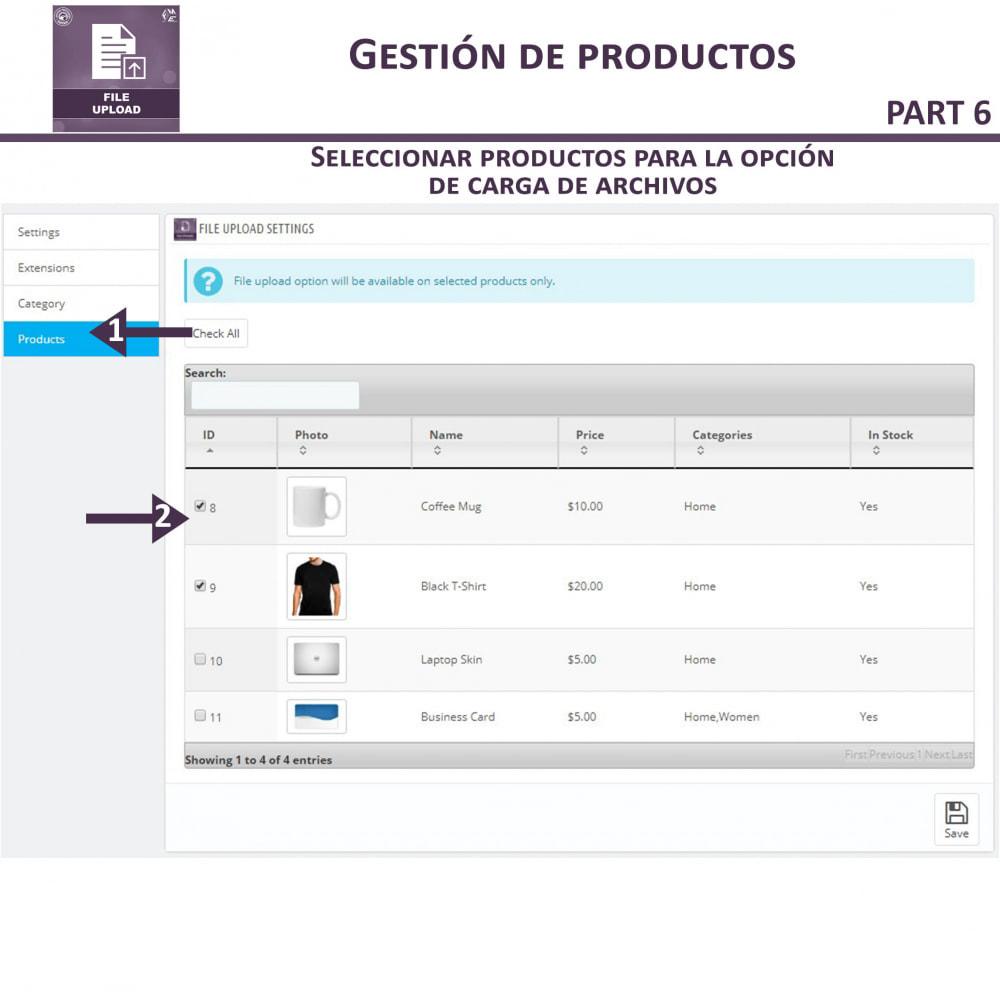 module - Informaciones adicionales y Pestañas - Carga de Archivos por Cliente - 13