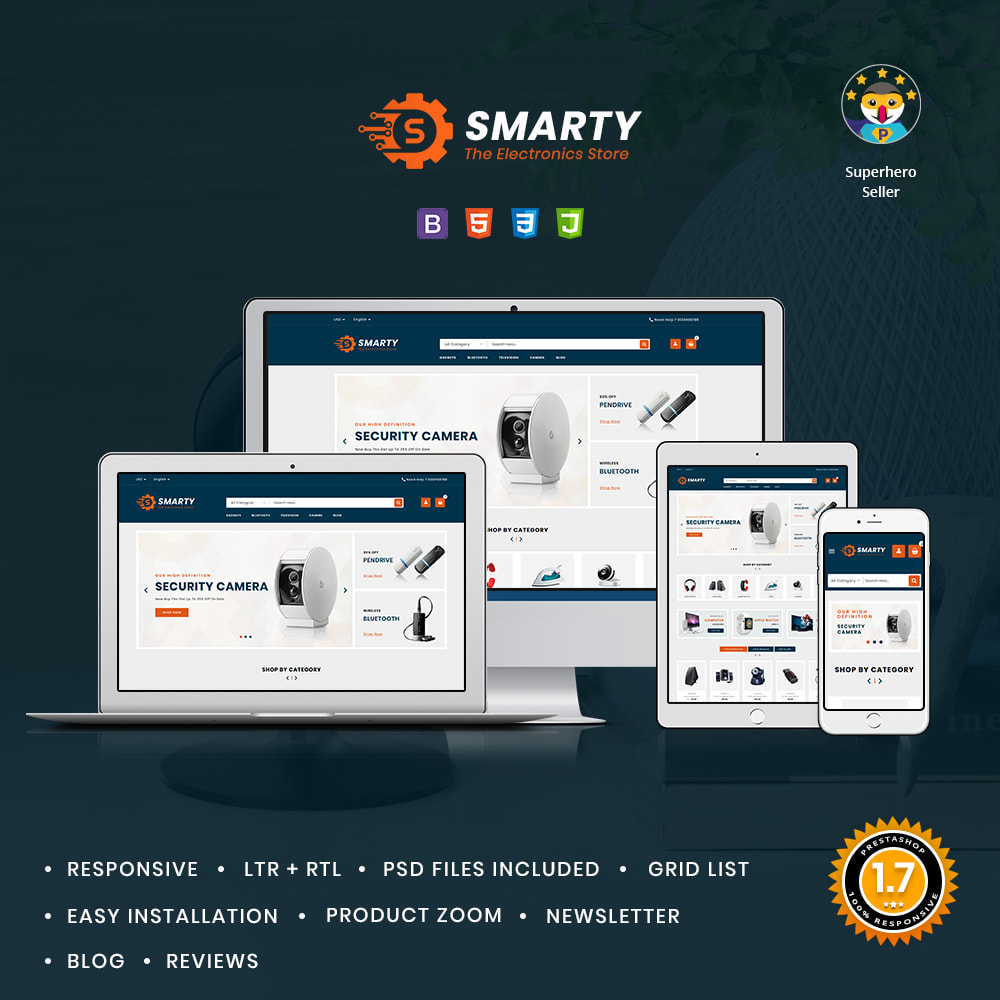 theme - Electronics & Computers - Smarty Electronics & Computer Shop - 1