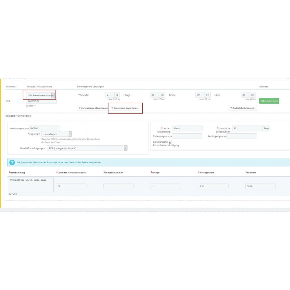 module - Transporteurs - DHL Business Portal - 3
