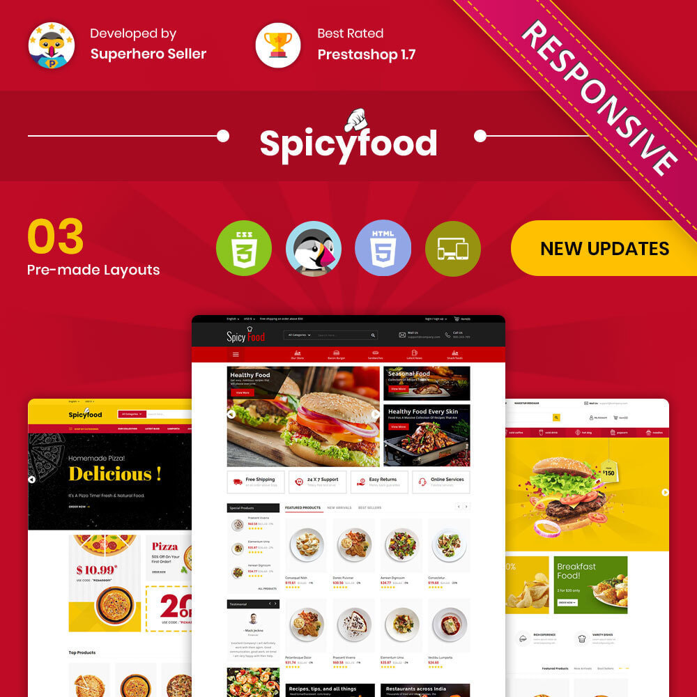 theme - Lebensmittel & Restaurants - Spicy Food - The Mega Food Shop - 1