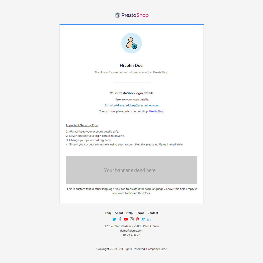 email - Template di e-mail PrestaShop - Alibaba - Template emails and for emails of module - 3