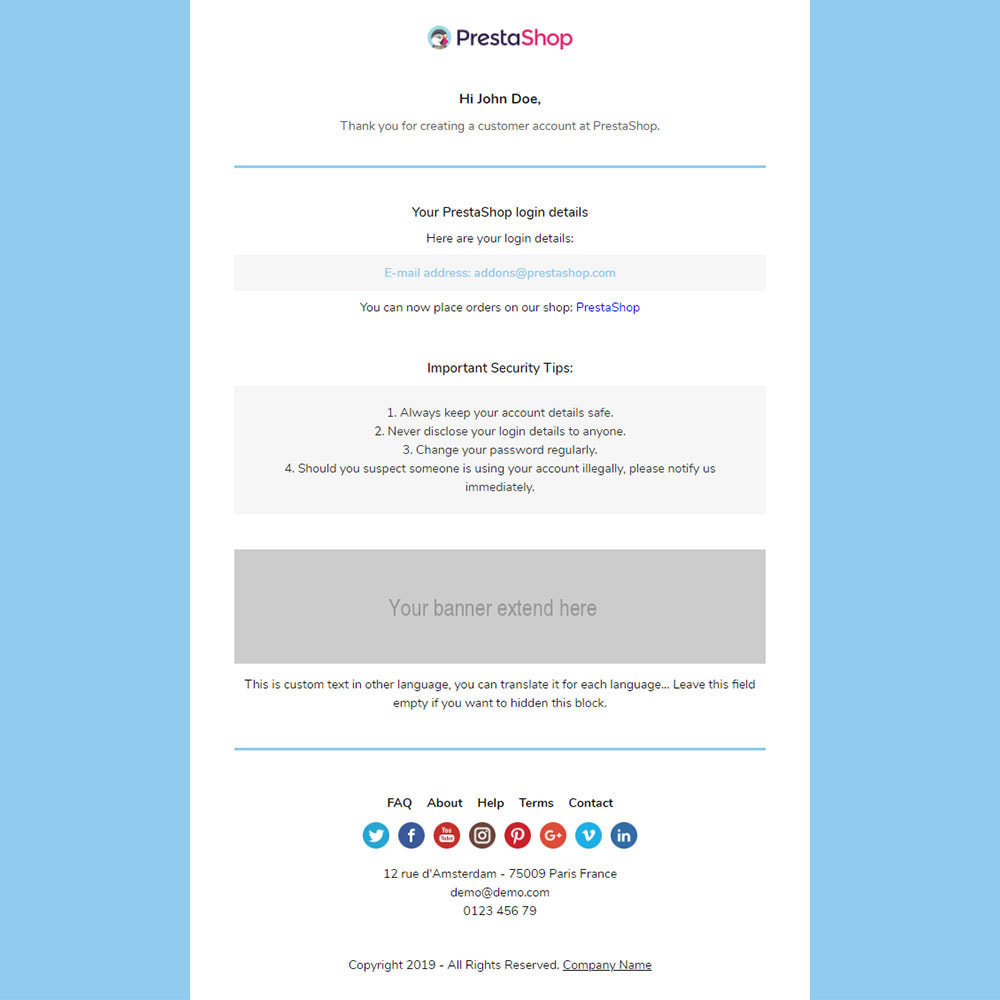 email - Email templates PrestaShop - Coi - Template emails and for emails of module - 3