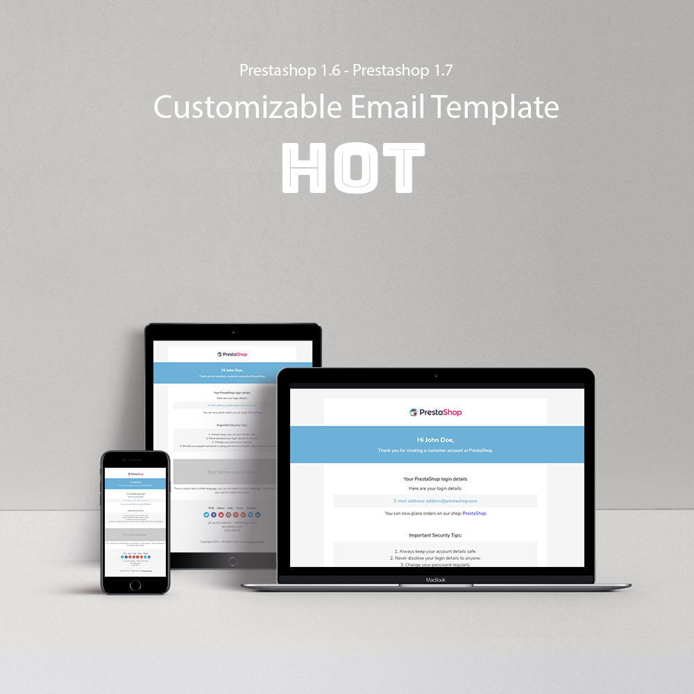 email - Email templates PrestaShop - Hot - Template emails and for emails of module - 1