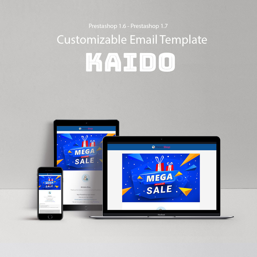 email - Email templates PrestaShop - Kaido - Template emails and for emails of module - 1