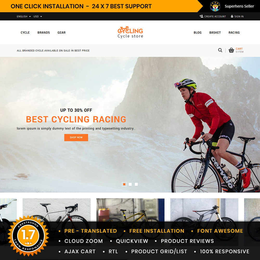 theme - Samochody - Cycling Bicycle store - 1